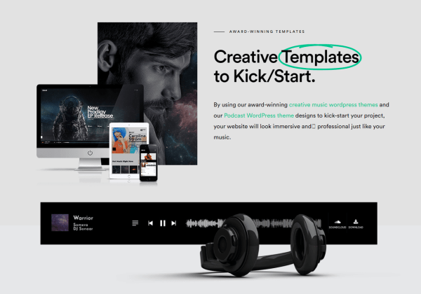 Sonaar Music WordPress Themes for Musicians and Podcasters