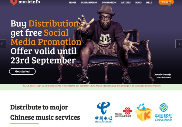 Your digital music distributor in China MusicInfo