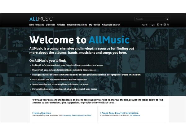 allmusic music database metadata