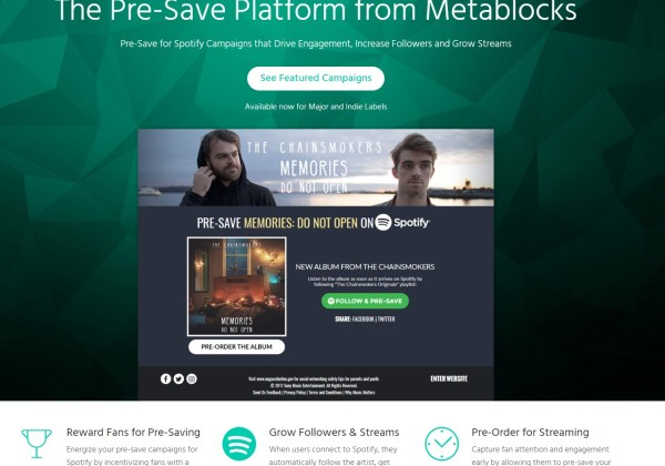 Presave to Spotify - From Metablocks