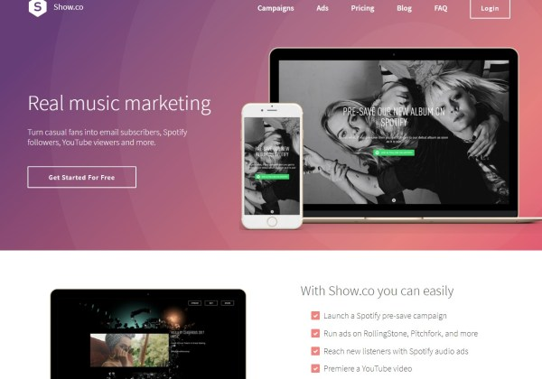 Show co - Music marketing and promotion that works