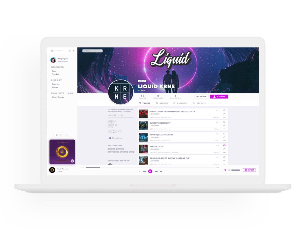 audius music streaming & hosting platform
