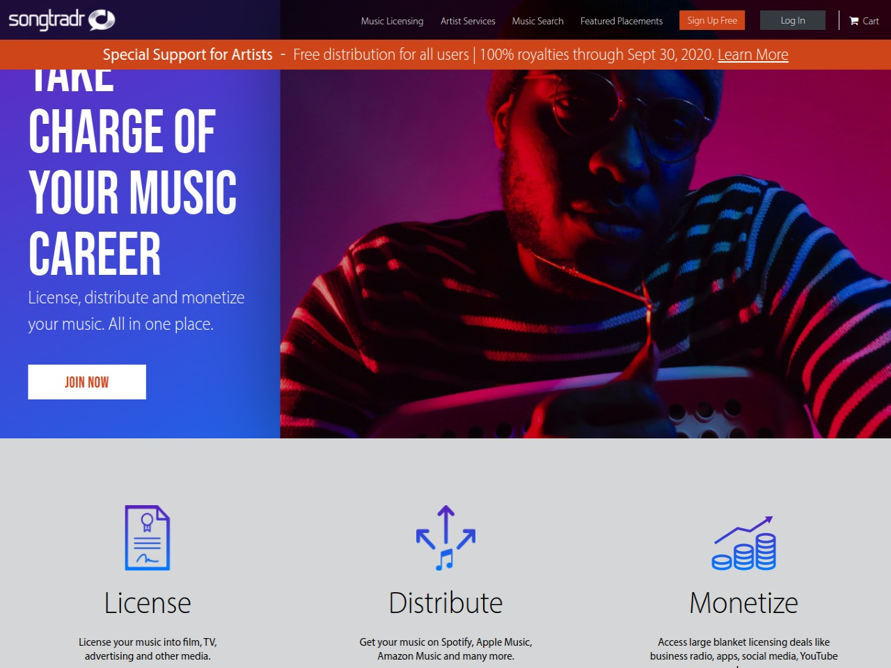 Artist Services - License Distribute Your Music Songtradr