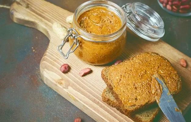 Is peanut butter ketogenic Homemade Organic Creamy Peanut Butter in a jar