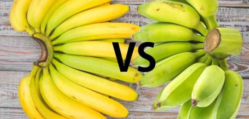 Yellow ripe or green unripe banana