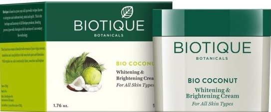 Biotique Bio Coconut Whitening and Brightening Cream_brightening cream for oily skin