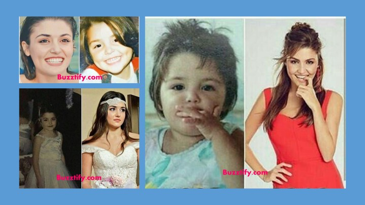 Hande Erçel in her childhood pictures then and now
