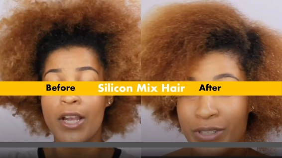 Silicon mix for damaged and finky frizzy hair for good hair