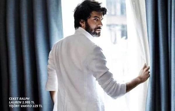 Engin Akyurek in white shirt