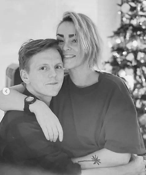 Jonas Strand Gravli with his fiance girlfriend Trude Bratlie