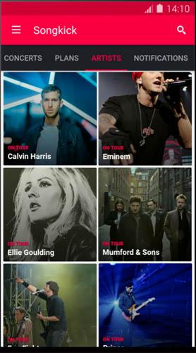 Songkick for Concerts