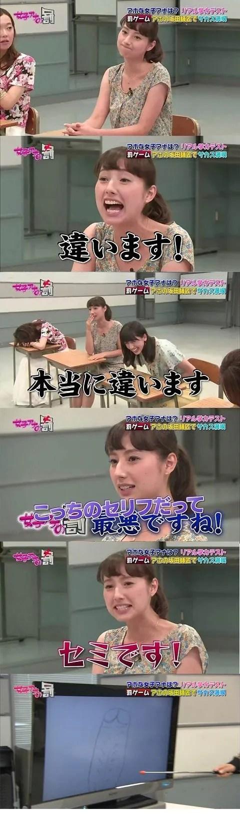 【これはアウト】女子アナがテレビで放送禁止の絵を描く