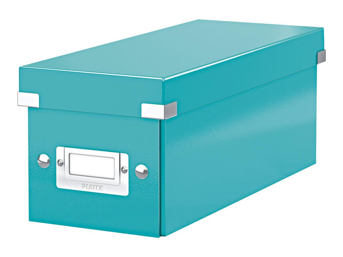 leitz click store boite de rangement pour cd bleu iceberg