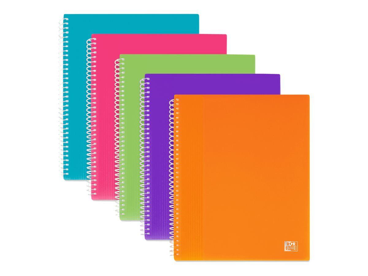 oxford school life porte vues a spirale 80 vues a5 disponible dans differentes couleurs