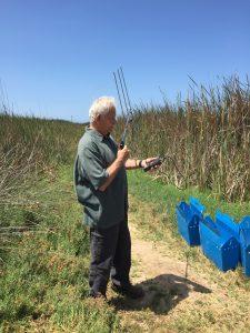 Andy checking radio telemetry equipment