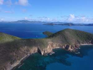 BVI Hiking above Norman virgin gorda in the background British virgin Islands