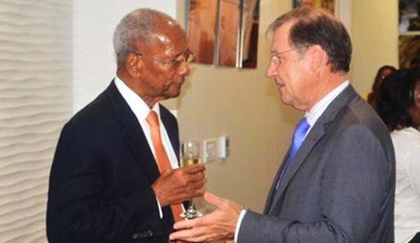 Governor John Duncan (left) and Premier Dr D Orlando Smith. File photo
