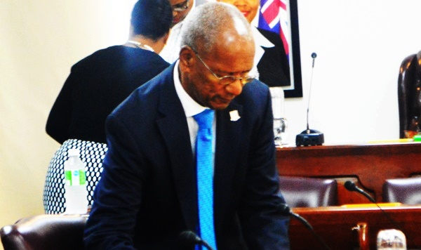 Premier Smith in the House of Assembly. File photo