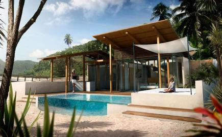 This is one of Freedom Bay renders, a preview of the beach front villa in St Lucia, Robert Whitton Stlucia