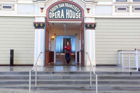 Bayview Opera House Front Door with Director Barbara Ockel