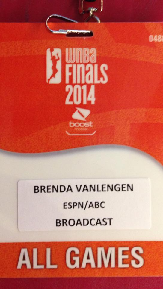 WNBA Finals Credential