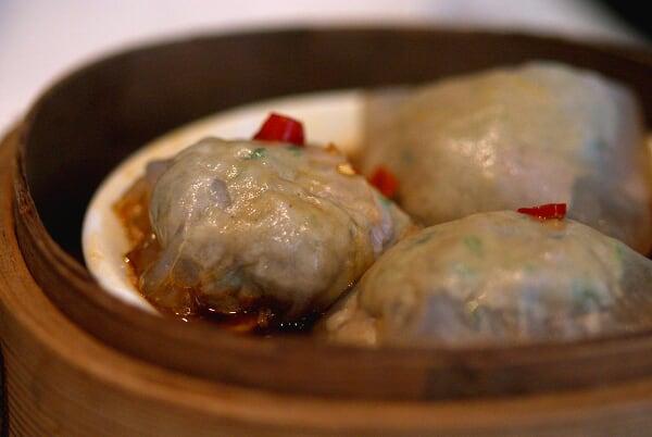 String Bean Crystal Dumpling in Chilli Oil