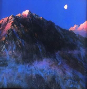 Anita Baenisch-Juda , Góry księżycowe, akryl,20x20, 360,00