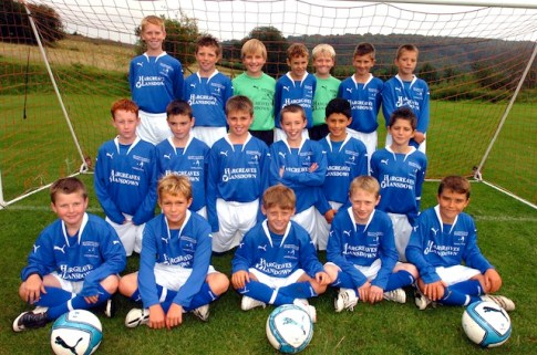 Bath Schools Football U'll's district team. Pic Marie Huggins 20/8/07 Sport