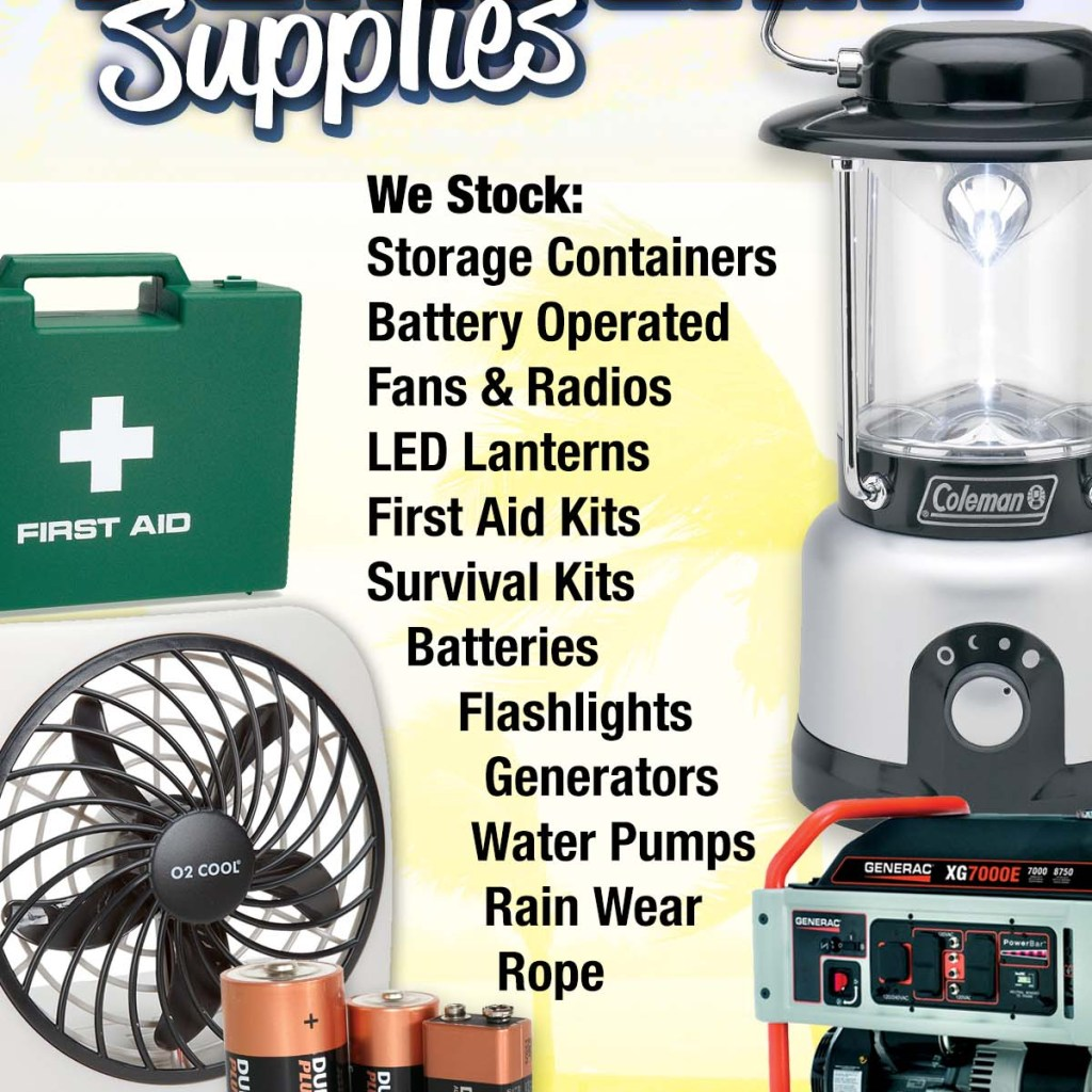 4__x 6 Hurricane Supplies Flyer