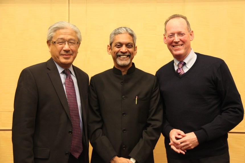 From left: Victor Dzau, Vikram Patel and Paul Farmer