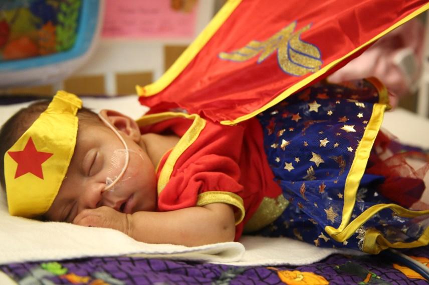 Baby Skye as Wonder Woman