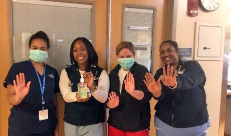 La'Lena Etheart BSN, RN, PCCN and staff