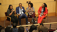 From left: Nia Evans, Michael Curry, Kim Janey and Shelita Bailey