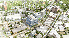 A rendering shows the future location of a Brigham Health/Partners HealthCare and South Shore Health System clinical site in Quincy.