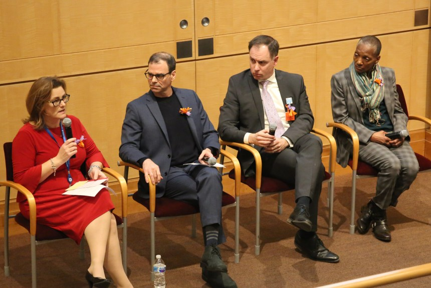 From left: Mardi Chadwick-Balcom, Matthew Miller, Charles Morris and Thea James participate in a panel discussion.