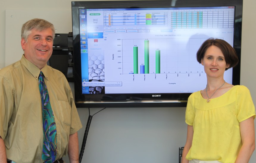 Neal Lindeman (left) and Lynette Sholl (right) are leading the effort to bring liquid biopsies out of research labs and into clinical settings.