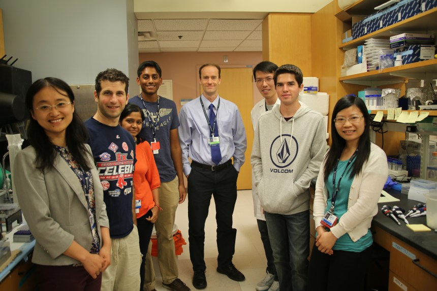 From left: Yuezhou Chen, Jared Silver, Neha Chaudhary, Satvik Reddy, Duane Wesemann, Teng Zuo, Colby Devereaux, Pei Tong
