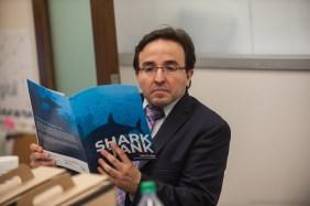 Finalist Pablo Valdes Quevedo studies the agenda.