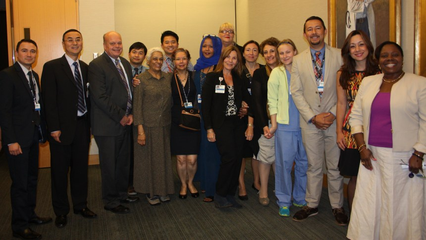 Members of Interpreter Services gather on International Translation Day