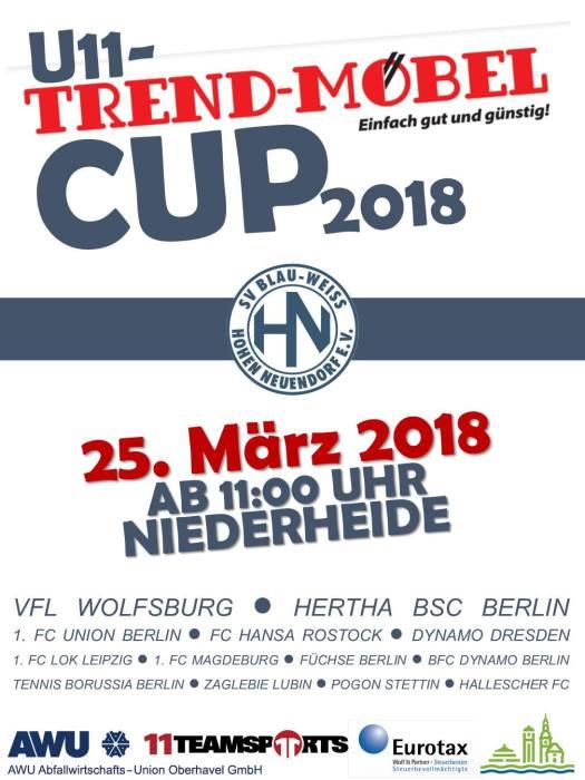 U11 Trendmobel Cup 2018 Sv Blau Weiss Hohen Neuendorf E V