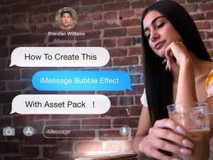 text bubble overlay
