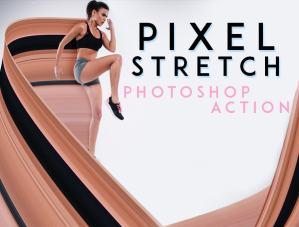 pixel stretch effect photoshop