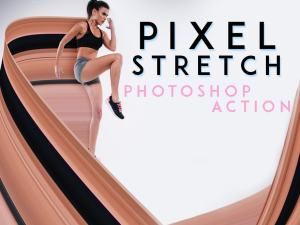 pixel stretch effect photoshop