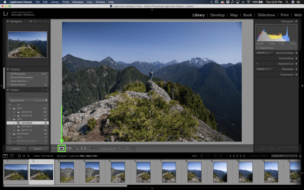 loupe-view-in-lightroom-library