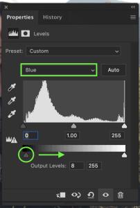 adjusting-blue-channel-levels