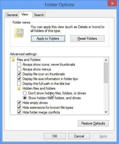 icon cache corrupt windows