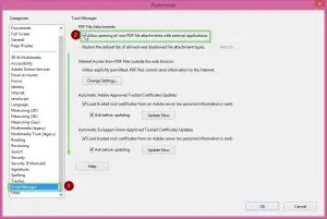 How to disable Adobe Reader disable protected mode.