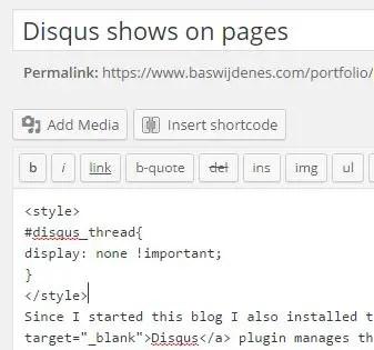 Remove disqus pages