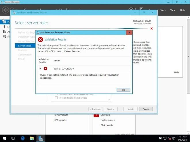 Hyper-v in Virtualbox