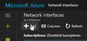Enable Network Adapter Azure VM.